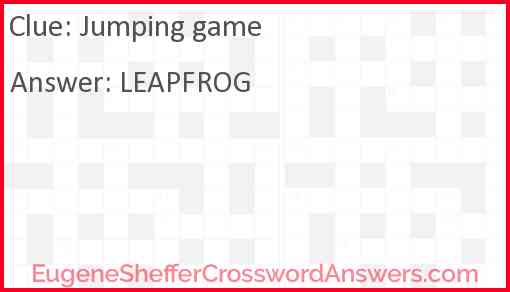 Jumping game Answer