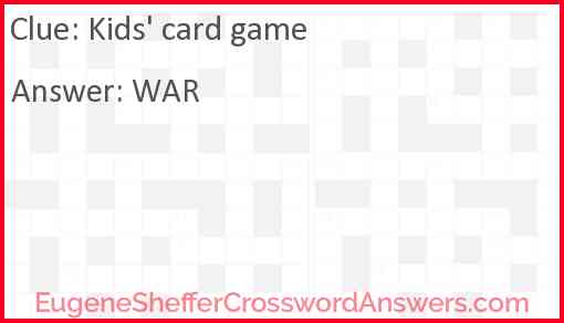 Kids' card game Answer