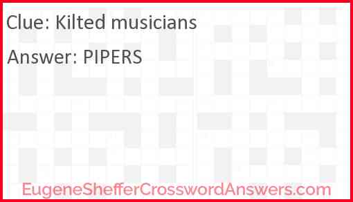 Kilted musicians Answer