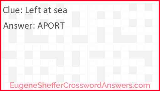 Left at sea Answer