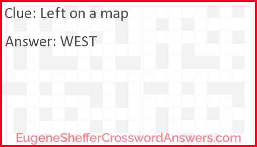 Left on a map Answer