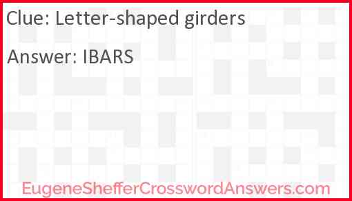 Letter-shaped girders Answer