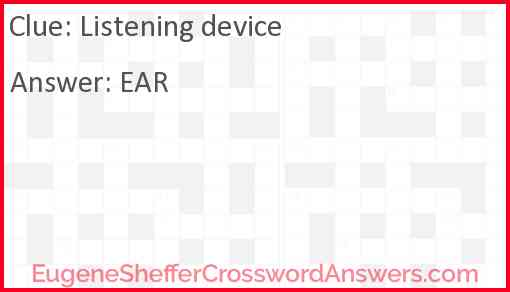 Listening device Answer