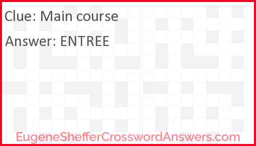 Main course Answer