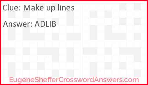 Make up lines Answer