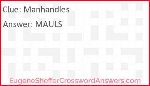 Manhandles Answer