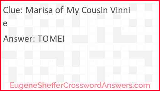 Marisa of My Cousin Vinnie Answer