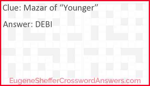 "Mazar of ""Younger"" Answer"