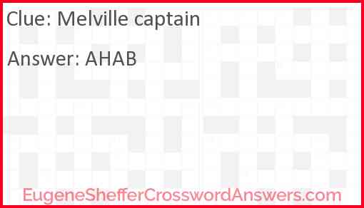 Melville captain Answer