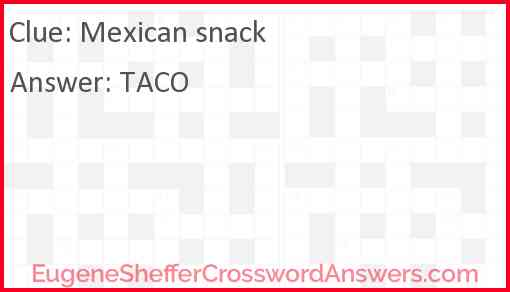 Mexican snack Answer