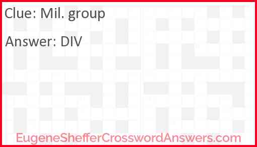 Mil. group Answer