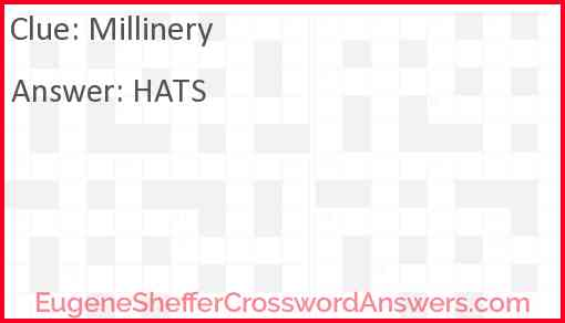 Millinery Answer