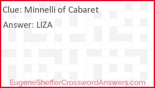"Minnelli of ""Cabaret"" Answer"