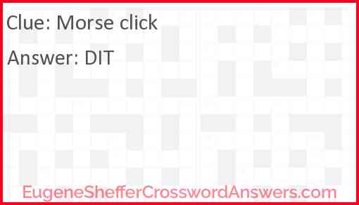 Morse click Answer