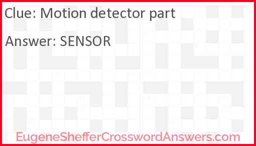 Motion detector part Answer