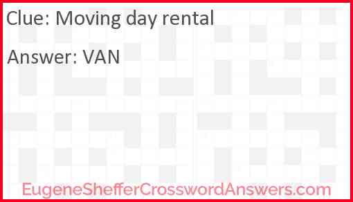 Moving day rental Answer