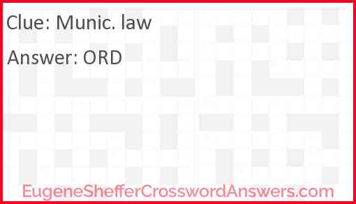 Munic. law Answer