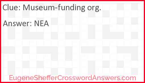 Museum-funding org. Answer