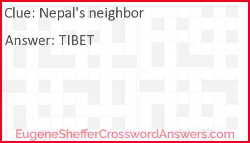 Nepal's neighbor Answer