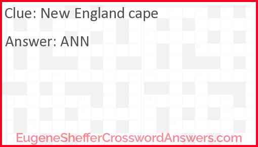 New England cape Answer