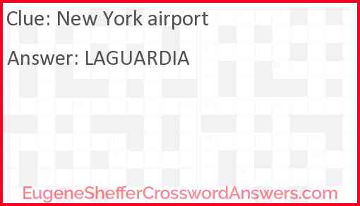 New York airport Answer