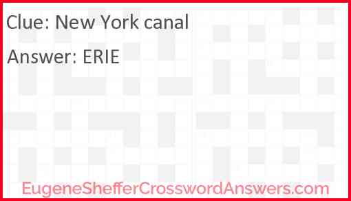 New York canal Answer