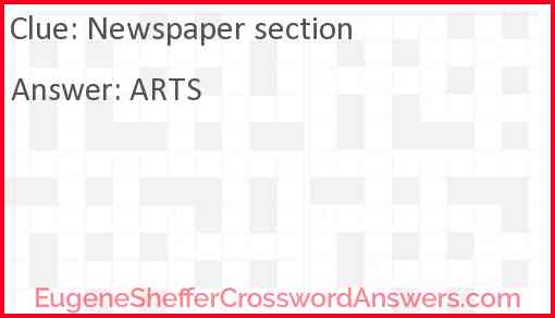 Newspaper section Answer