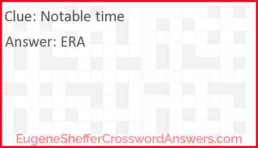 Notable time Answer