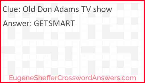 Old Don Adams TV show Answer