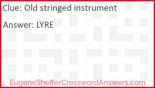 Old stringed instrument Answer