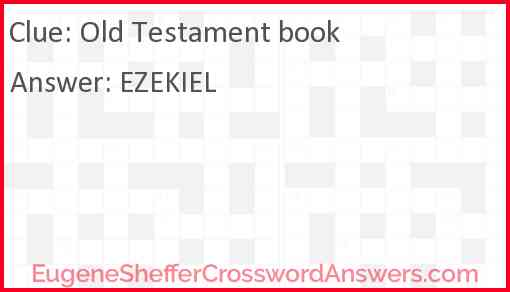 Old Testament book Answer