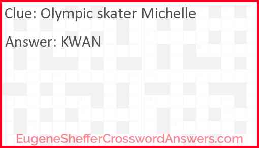 Olympic skater Michelle Answer
