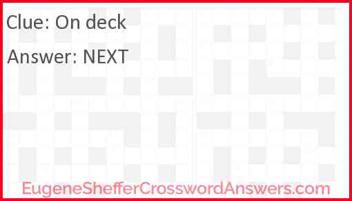 On deck Answer