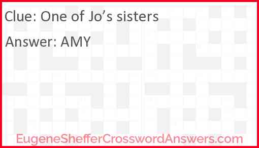 One of Jo's sisters Answer