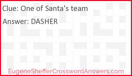 One of Santa's team Answer