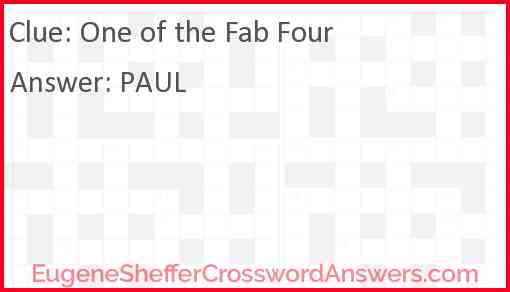 One of the Fab Four Answer