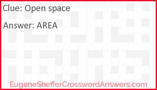 Open space Answer