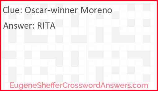 Oscar-winner Moreno Answer