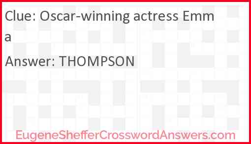 Oscar-winning actress Emma Answer