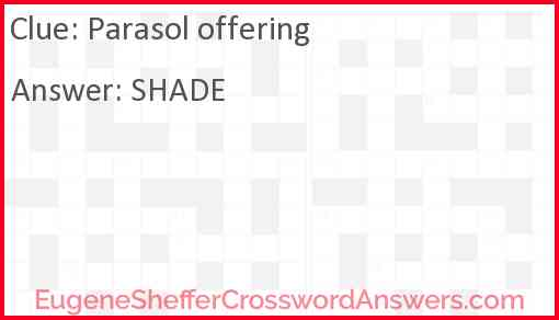 Parasol offering Answer