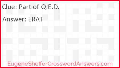 Part of QED Answer