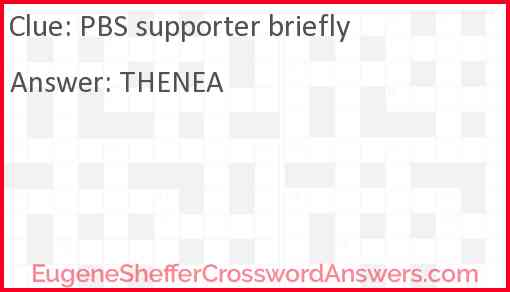PBS supporter briefly Answer