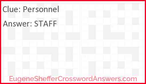 Personnel Answer