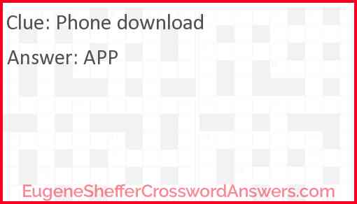 Phone download Answer