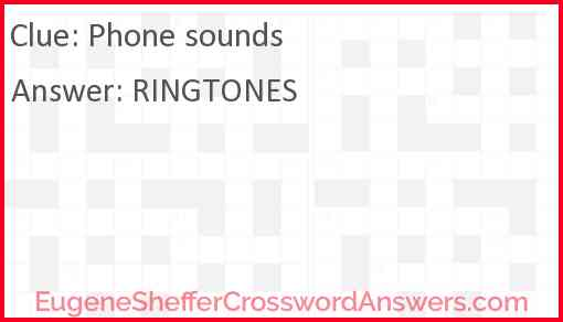 Phone sounds Answer
