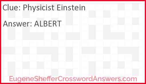 Physicist Einstein Answer