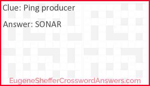 Ping producer Answer