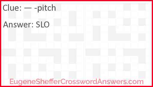 Pitch Answer