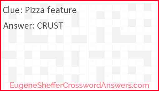 Pizza feature Answer