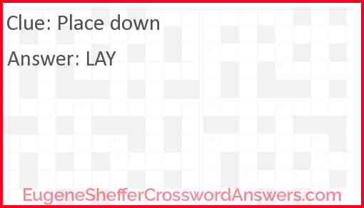 Place down Answer